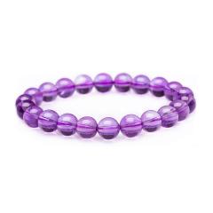 芭法娜 紫玲珑 天然紫水晶单圈时尚手链 满紫 饱和度高 艳紫色