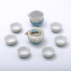 金镶玉 功夫茶具 海洋莲 陶瓷茶壶茶杯整套茶具套装