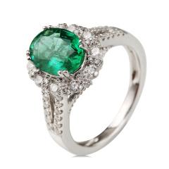 梦思芭克18K 1.5卡祖母绿戒指