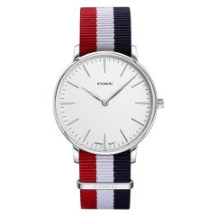 COGU手表男女士手表商务休闲时尚潮流防水帆布带石英表2019新款男士手表