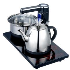 欧博(OPO)QB13-S213 电热水壶 四合一烧水壶电茶壶泡茶机 电磁炉茶盘茶具套装黑色