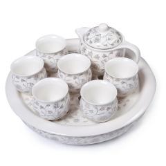功夫茶具 黄金叶套组 景德镇陶瓷茶具整套