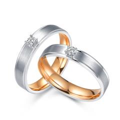 芭法娜 全城热恋 18K金情侣钻石戒指 订婚结婚戒指 订制款无现货 工期约20天