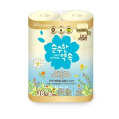 韩国原装进口木之惠纯情约定卫生纸6卷装