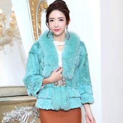 瑷美天使2016新款皮草女士狐狸毛领韩版修身女装