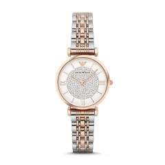 【香港直邮】意大利 阿玛尼满天星手表 欧美镶钻钢制表带 圆形石英女士手表 AR1926