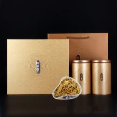 瓯叶红茶 简朴系列 滇红茶 云南凤庆大金芽滇红茶叶 礼盒装 100g