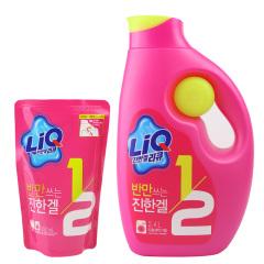 韩国原装进口爱敬全新升级版LIQ洗衣液一加一特惠组