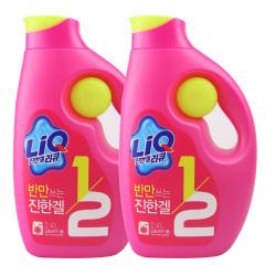 韩国原装进口爱敬全新升级版LIQ洗衣液两桶装