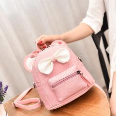 新款韩版米奇单肩双肩包女包两用学生用小书包 儿童可爱蝴蝶结小双肩包