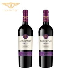 宾利爵卡紫爵干红葡萄酒法国原瓶进口双支礼盒装