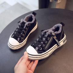 jugo女童加绒运动鞋2019秋冬新款儿童二棉鞋时尚男童网红老爹鞋板鞋