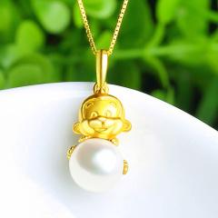 DODOBEL WOMEN925银镶嵌珍珠吊坠 送项链