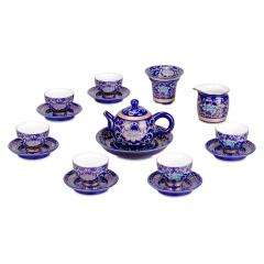 福如东海珐琅彩茶具