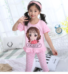 夏季儿童睡衣套装衣短袖可爱女童薄款两件套家居服空调服睡衣