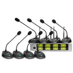韩国现代一拖八会议无线麦克风 演唱会专业手持鹅颈会议话筒