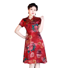 可丽恩香云纱女神裙