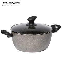意大利进口火山岩汤锅蒸锅煲汤炖锅煮面条汤锅炖锅 燃气灶适用