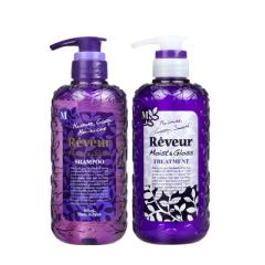 reveur日本进口无硅油洗发水温和控油去屑保湿滋润洗发护发套装(紫瓶)