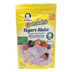 海外直邮/Gerber 嘉宝混合莓味酸奶小溶豆 28g/包邮包税
