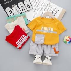 菲儿小屋2020夏季0-4岁男女宝宝中小童圆领T袖短袖两件套