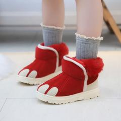 女童大棉靴子  2019年冬季新款儿童雪地靴加绒加厚保暖女孩公主短靴