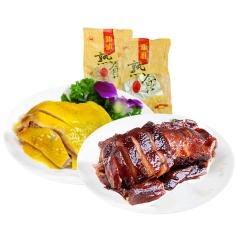 新雅咸鸡酱鸭组合送素鲍鱼共2000g 老字号熟食卤味肉制品