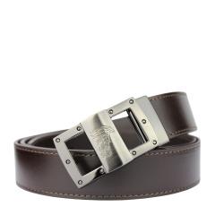 范思哲男士棕色可裁剪经典美杜莎LOGO款板扣腰带 V91S174 VM00046 V239