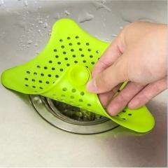 五角星厨房水槽防堵塞地漏浴室过滤网【2个 颜色随机】