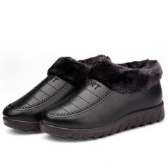 2019冬季老北京棉鞋女加绒保暖中老年妈妈鞋防水防滑耐磨