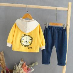 菲儿小屋 儿童外套秋冬1-3岁男女童卡通连帽儿童外套套装