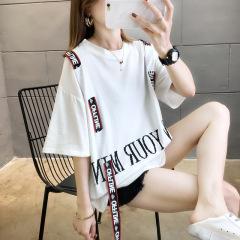 2020夏季新款短袖t恤特超大码女装韩版学生胖mm宽松上衣网红ins潮