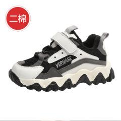 聚邦   儿童运动鞋2020年秋冬新款熊猫鞋拼色男童女童鞋休闲鞋防滑二棉