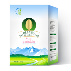 素稷有机多用途麦芯粉3斤 有机面粉 面粉 面条馒头饺子