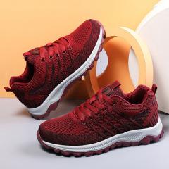 2021新款春季老人鞋女运动休闲旅游妈妈鞋透气软底中老年健步鞋