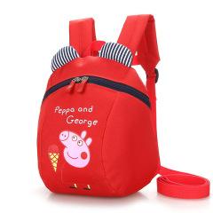 幼儿宝宝双肩小书包1-4-5岁儿童防走失背包幼童可爱卡通小猪背包