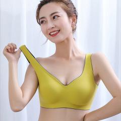 新款闺蜜天秤座泰国乳胶内衣女士无痕无钢圈文胸聚拢运动睡眠背心胸罩