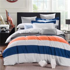 VIPLIFE全棉斜纹活性印花四件套 高支高密纯棉床单被套-柏拉图