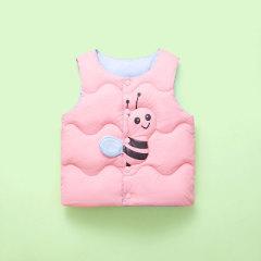 儿童棉马甲春秋冬季婴幼儿坎肩小蜜蜂羽绒棉服男女小童背心