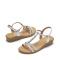 达芙妮珍珠水钻坡跟凉鞋1017303094