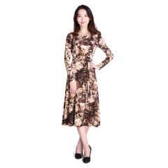 N.L针织腰带连衣裙