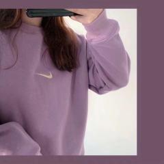 卫衣 小刺绣颗粒绒NK摇粒绒纯色百搭