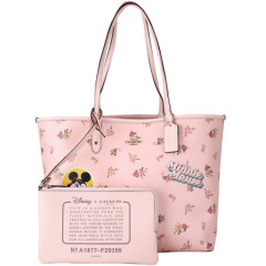 COACH REVERSIBLE CITY ZIP TOTE WITH FLORAL...