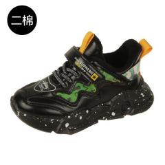 女童加绒运动鞋2020秋冬新款儿童二棉童鞋高帮防滑男童拼色篮球鞋