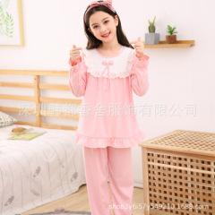 儿童睡衣可爱卡通家居服套装女童睡衣春夏长袖女孩空调服
