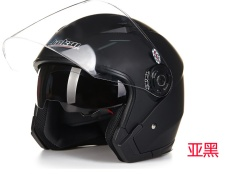 捷凯双镜片半盔JK-512摩托车电动车四季时尚安全帽