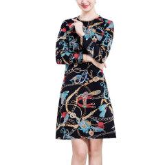 DS3D印花连衣裙